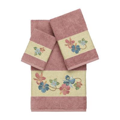 Linum Home Textiles 100% Turkish Cotton Caroline 3PC Embellished Towel Set