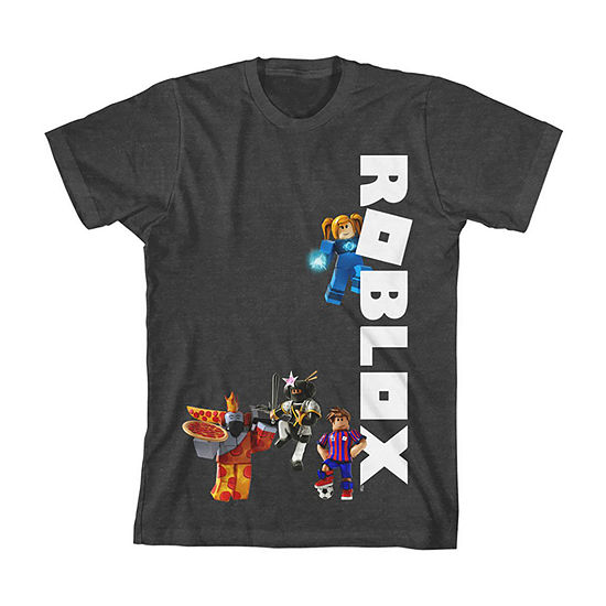 Little Kid / Big Kid Boys Crew Neck Roblox Short Sleeve Graphic T-Shirt