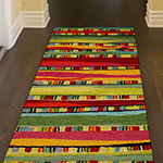 Liora Manne Seville Mosaic Stripe Hand Tufted Rectangular Indoor Runner