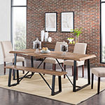 Southern Enterprises Hocroa Table Rectangular Wood-Top Dining Table