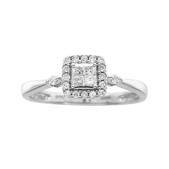 Promise My Love ¼ CT. T.W. Princess Diamond Promise Ring