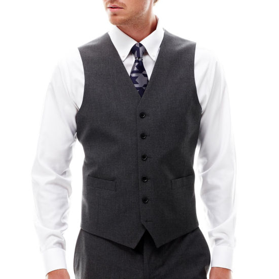 JF J. Ferrar® Stretch Gabardine Vest - Slim Fit