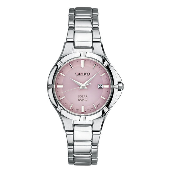 Seiko Womens Silver Tone Stainless Steel Bracelet Watch-Sut315