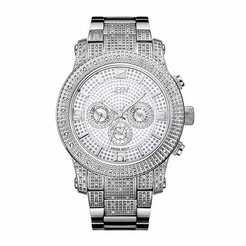 JBW Men's Lynx .80 ctw Diamond Stainless Steel Watch J6336E