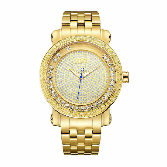 JBW Men's Hendrix 0.20 ctw Diamond 18k gold-plated stainless-steel Watch J6338B