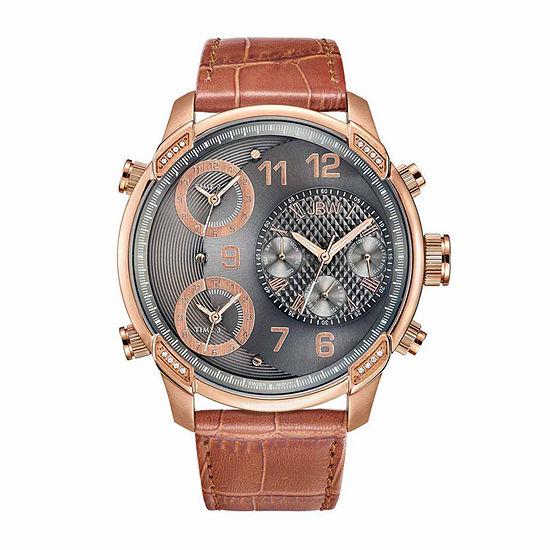JBW Men's G4 0.16 ctw Diamond 18K Rose Gold-Plated Stainless Steel Watch J6248LS