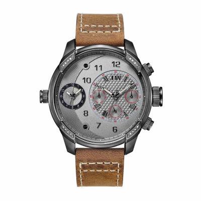 JBW Men's G3 0.16 ctw Diamond Gun Metal-Plated Stainless Steel Watch J6325F