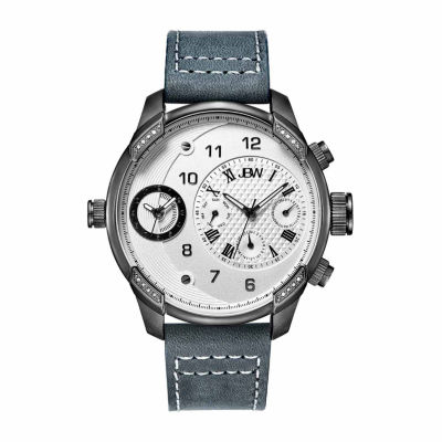 JBW G3 1/6 C.T. T.W. Mens Gray Leather Strap Watch-J6325g