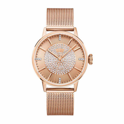 JBW Women's Belle 0.12 ctw Diamond 18K Rose Gold-Plated Stainless Steel Watch J6339B