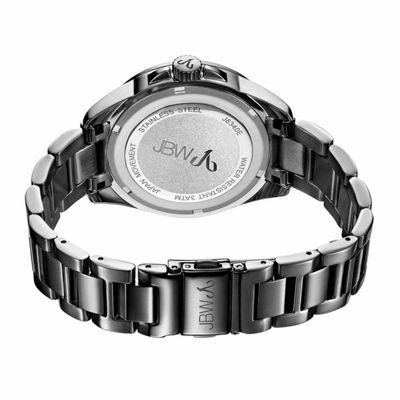 JBW Women's Capri 0.12 ctw Diamond Gun Metal-Plated Stainless Steel Watch J6340E