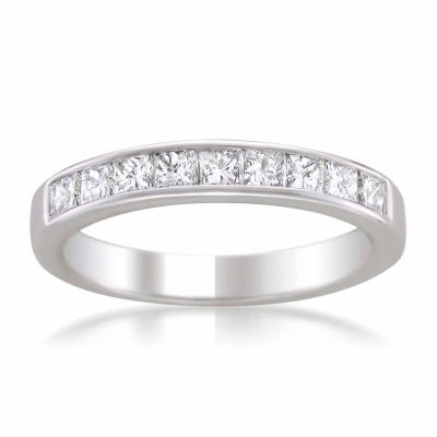 Womens 4 Mm 1 CT. T.W. White Diamond 14K Gold Wedding Band