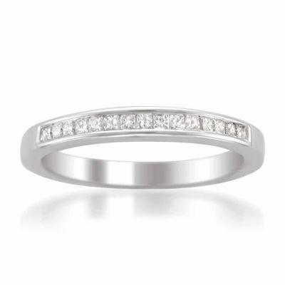 Womens 1/4 CT. T.W. White Diamond 14K Gold Wedding Band