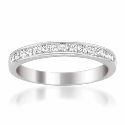 Womens 3 Mm 1/2 CT. T.W. White Diamond 14K Gold Wedding Band