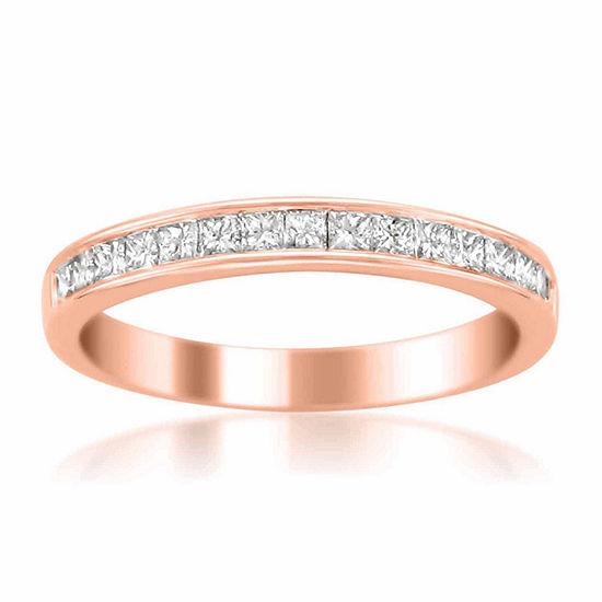 Womens 3 Mm 1 2 Ct Tw Genuine White Diamond 14k Gold Wedding Band