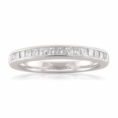 Womens 1/2 CT. T.W. White Diamond 14K Gold Wedding Band
