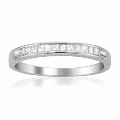 Womens 2 Mm 1/4 CT. T.W. White Diamond 14K Gold Wedding Band