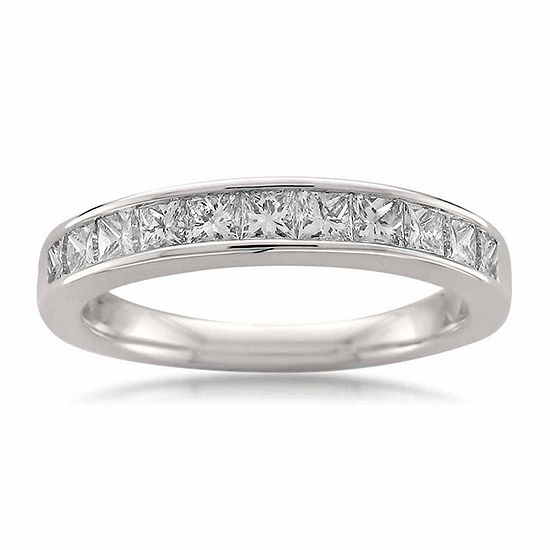 Womens 3 Mm 3 4 Ct Tw Genuine White Diamond 14k Gold Wedding Band