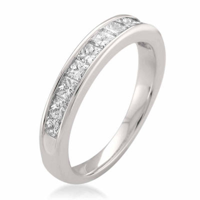 Womens 3 Mm 3/4 CT. T.W. White Diamond 14K Gold Wedding Band