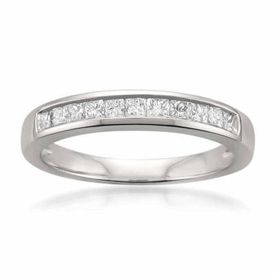 Womens 1/2 CT. T.W. White Diamond Platinum Wedding Band