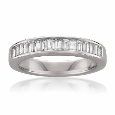 Womens 3.5 Mm 3/4 CT. T.W. White Diamond 14K Gold Wedding Band
