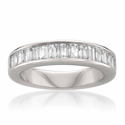 Womens 3.5 Mm 1 CT. T.W. White Diamond 14K Gold Wedding Band