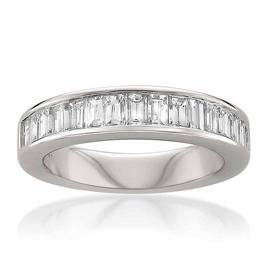 Womens 3.5 Mm 1 CT. T.W. Genuine White Diamond 14K Gold Wedding Band