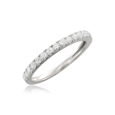 Womens 2mm 1/2 CT. T.W. White Diamond 14K Gold Wedding Band