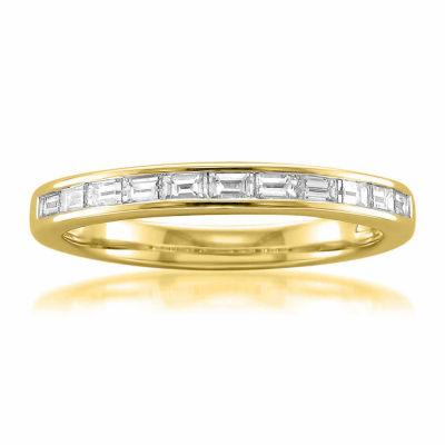 Womens 2 Mm 1/2 CT. T.W. White Diamond 14K Gold Wedding Band