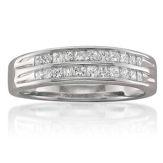 Womens 4.5 Mm 1/2 CT. T.W. Genuine White Diamond 14K Gold Wedding Band