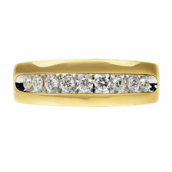1/2 CT. T.W. Genuine Diamond 14K Gold Band