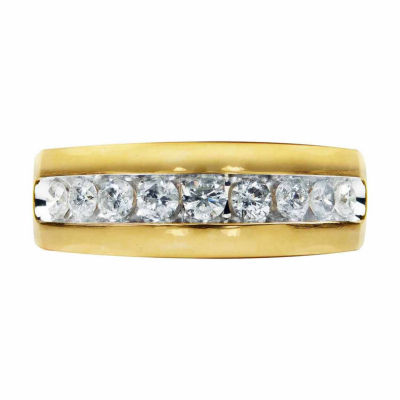 Mens 1 CT. T.W. Genuine Diamond 14K Gold Band