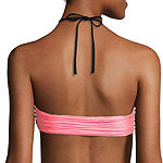 Arizona Mix & Match Stripe Halter High-Neck Swim Top - Juniors