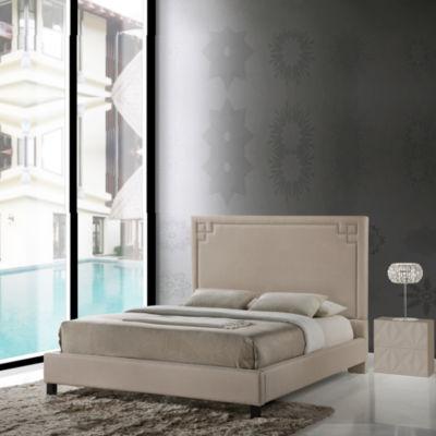 Baxton Studio Heidi Upholstered Platform Bed