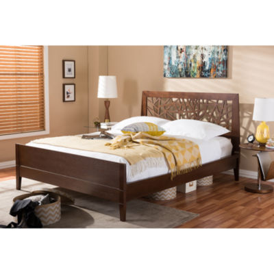 Baxton Studio Jennifer Wood Platform Bed