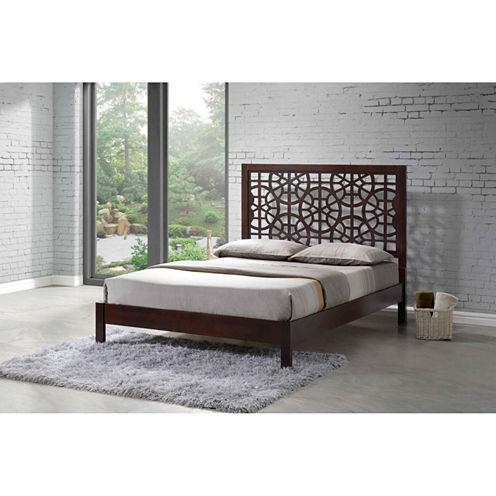 Baxton Studio Sakuro Circle Wood Platform Bed