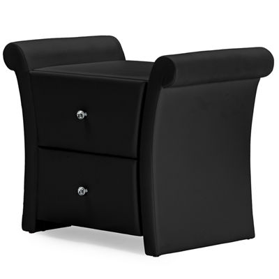Baxton Studio Victoria Faux-Leather Leather Nightstand