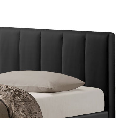Baxton Studio Templemore Contemporary Faux-Leather Upholstered Bed
