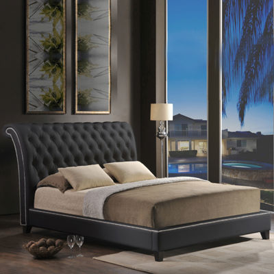 Baxton Studio Jazmin Upholstered Bed