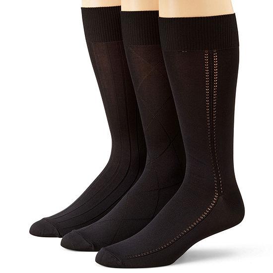 b7629cd09e Stafford® 3-pk. Mens Microfiber Nylon Crew Socks - JCPenney