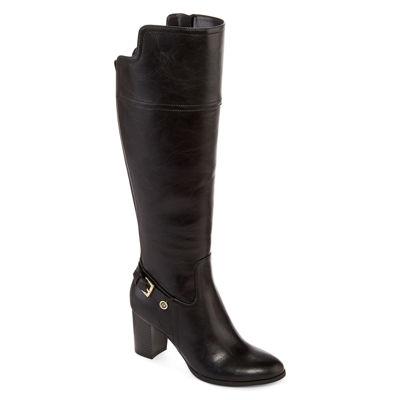 Liz Claiborne® Alvis Heeled Riding Boots - Wide Calf, Wide Width