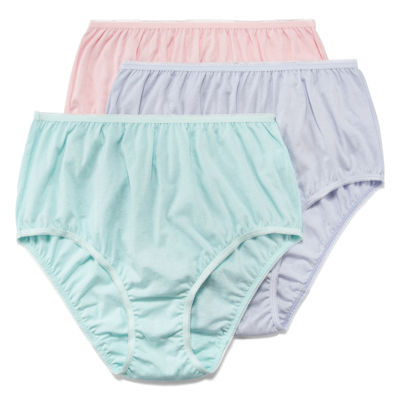 Underscore Cotton 3 Pack Knit High Cut Panty