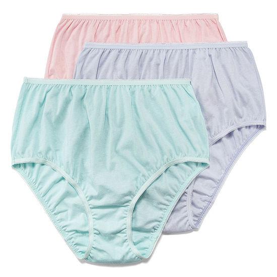 Underscore Cotton 3 Pack Knit High Cut Panty