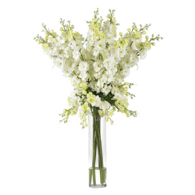 Nearly Natural Delphinium Silk Flower Arrangement