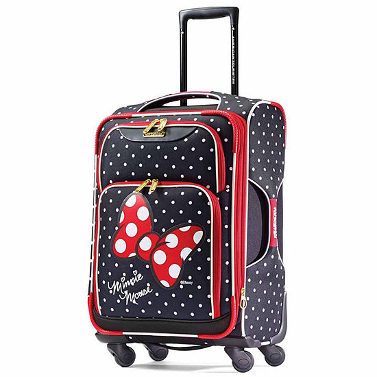 American Tourister Disney Minnie Mouse Red Bow 21 Inch Lightweight Luggage