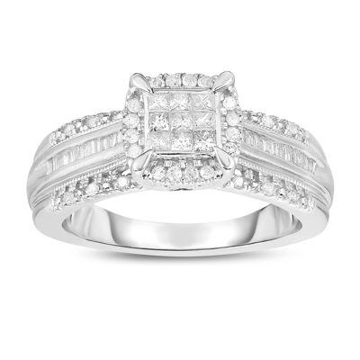 Womens 1/2 CT. T.W. Multi-Shape White Diamond 10K Gold Engagement Ring