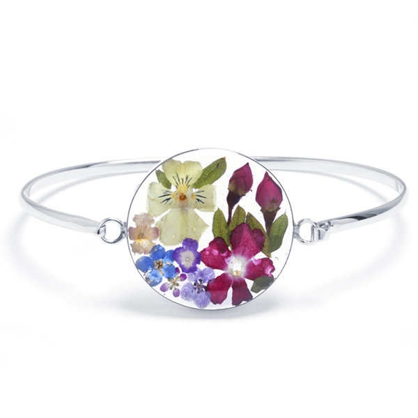 Womens Sterling Silver Bangle Bracelet