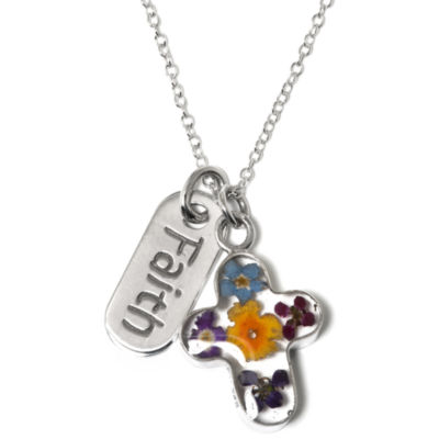 Womens Cross Pendant Necklace