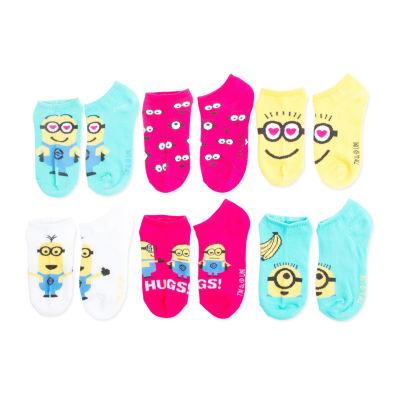 Despicable Me 5-pk. Minions No-Show Socks - Girls