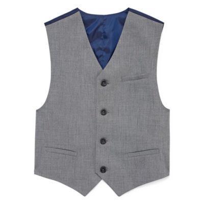 IZOD Sharkskin Suit Vest - Boys 8-20