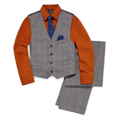 Steve Harvey 4-pc. Vest Set 8-20 Boys